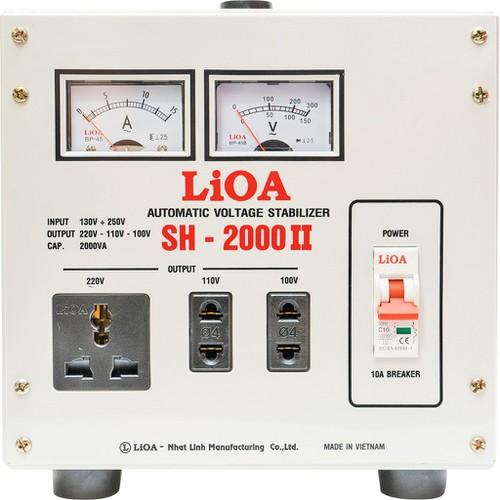 Ổn áp 1 pha LIOA SH-2000 II 2.0kVA điện áp vào 130V-150V-250V - Thế hệ mới 2018