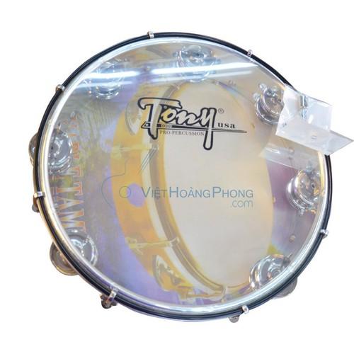 Trống lắc tay - Trống gõ bo - Tambourine Tony Trắng trong - Âm thanh siêu vang