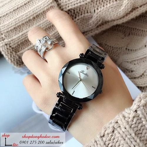 Đồng hồ nữ dây kim loại mặt tròn sành điệu ĐHĐ6103