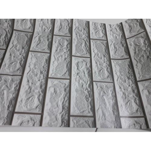 10m giấy dán tường khổ 45cm họa tiết giả gạch có viền 5272