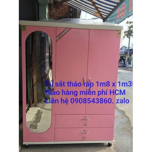 Tủ sắt quần áo sơn tĩnh điện 1m8 x 1m35 tháo ráp