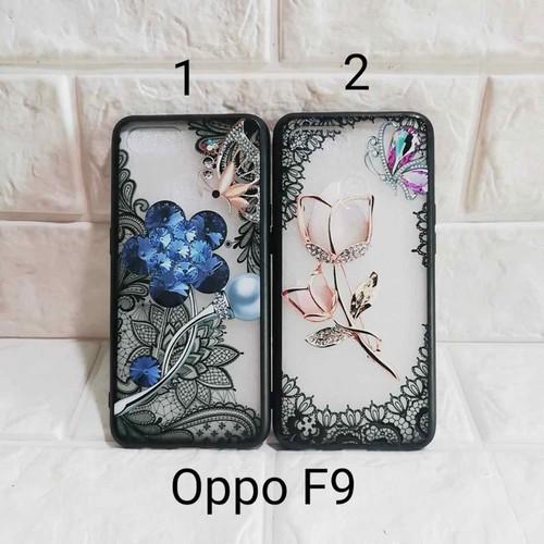 Ốp lưng Oppo F9 hoa in bóng