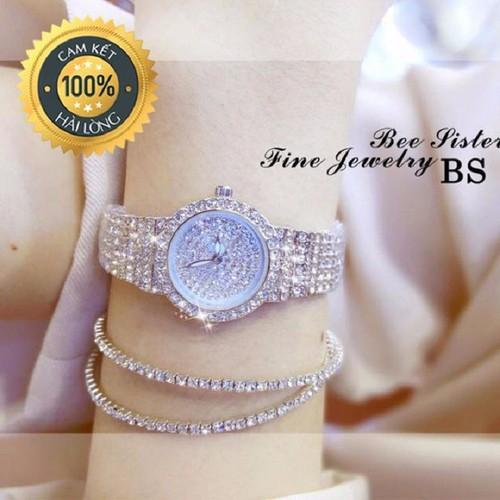 [Free Ship] Đồng hồ nữ Bee Sister đính đá thời trang