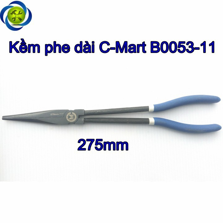 Kìm phe dài miệng thẳng C-Mart B0053-11 275mm 1