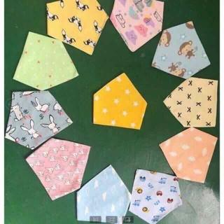 Yếm màu tam giác cotton cho bé - 210 thumbnail