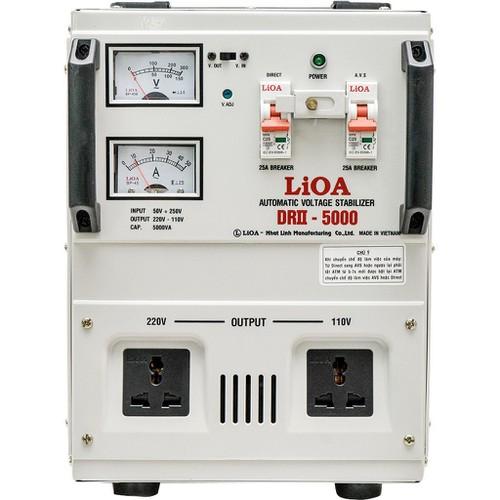 Ổn áp 1 pha LIOA DRII-5000 II 5.0kVA điện áp vào 50V - 250V - Thế hệ mới 2018