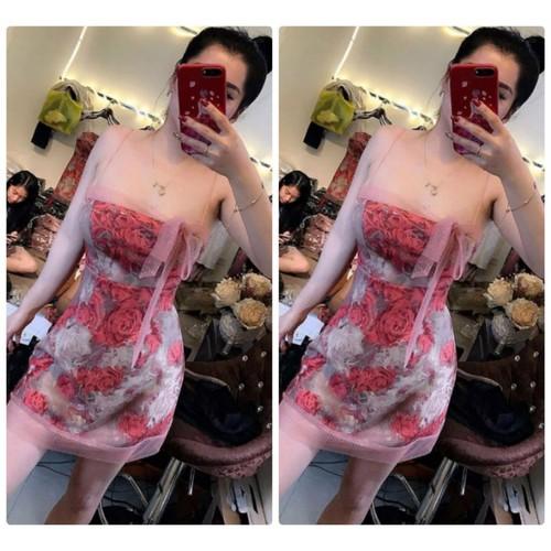 Đầm body 2 dây hoa hồng phối lưới ngực thắt nơ - 6785635 , 13487379 , 15_13487379 , 389000 , Dam-body-2-day-hoa-hong-phoi-luoi-nguc-that-no-15_13487379 , sendo.vn , Đầm body 2 dây hoa hồng phối lưới ngực thắt nơ
