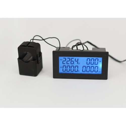 Đồng hồ hiển thị điện áp, tần số, năng lượng đa năng AC 100A
