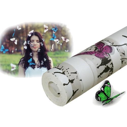 10m giấy dán tường khổ 45cm họa tiết đàn bướm 5253