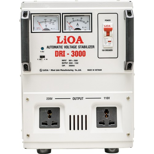 Ổn áp 1 pha LIOA DRI-3000 II 3.0kVA điện áp vào 90V - 250V - Thế hệ mới 2018