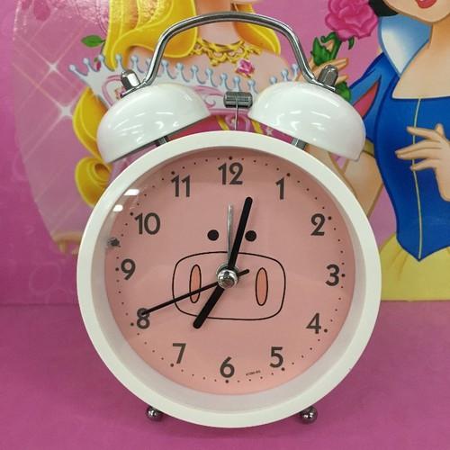 Đồng hồ tròn lợn trắng hồng 035186