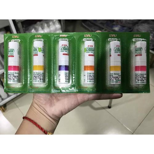 1 lốc 6 ống hít Thông mũi Thái Lan