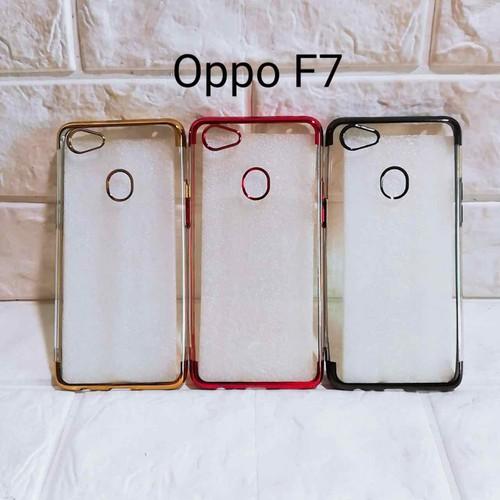 Ốp lưng Oppo F7 trong viền màu