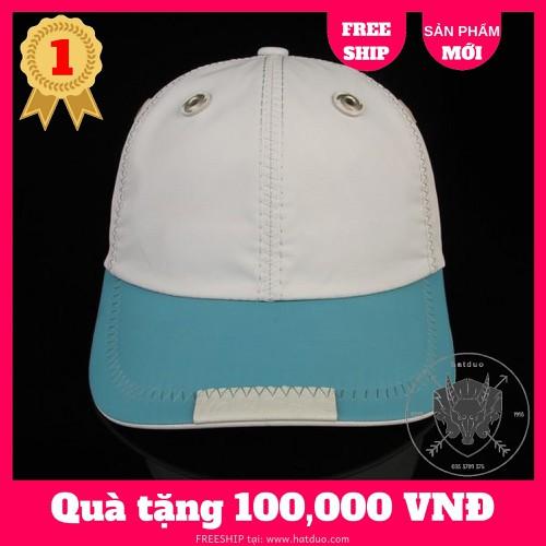 Nón kết, Nón Sơn, Mũ Kết Sơn Full Tem 7 màu hàng cao cấp - trắng xanh