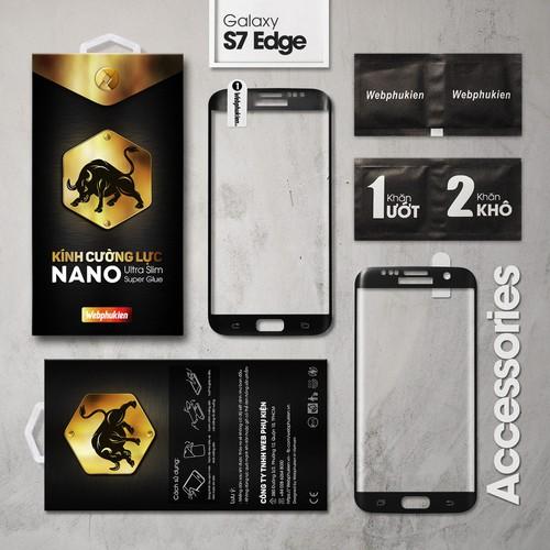 Kính cường lực Galaxy S7 Edge Big Full Webphukien đen