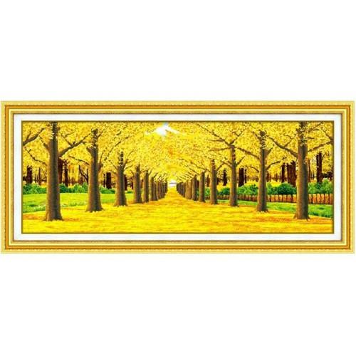 Tranh đính đá Hàng cây mùa thu DF2024 186x72cm - df2024