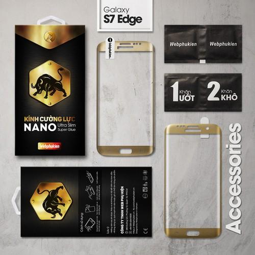Kính cường lực Galaxy S7 Edge Big Full Webphukien vàng