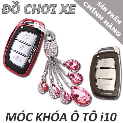 Ốp khóa silicon Hồng Ngọc cao cấp - Hyundai I10,I20 Active, Tucson, Elantra