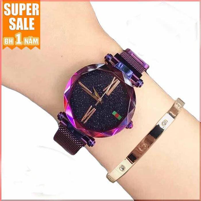 Đồng hồ nữ dây nam châm tặng lắc tay