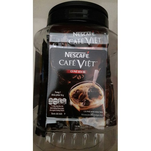 Nestcafe cà phê việt đen 40 gói