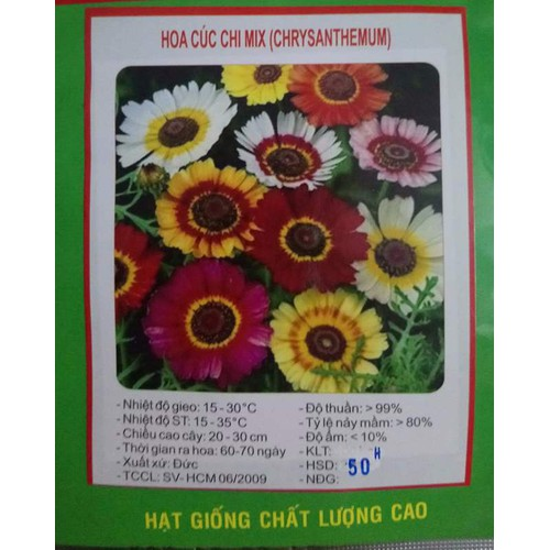 Hạt giống CÚC CHI MIX - 6790550 , 13494060 , 15_13494060 , 20500 , Hat-giong-CUC-CHI-MIX-15_13494060 , sendo.vn , Hạt giống CÚC CHI MIX