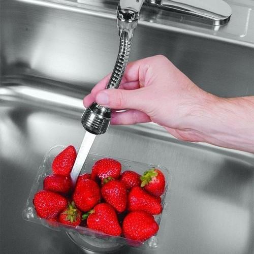 Vòi Nước Tăng Áp 360- Đầu vòi rửa tăng áp 2 chế độ nước dây dài 15cm