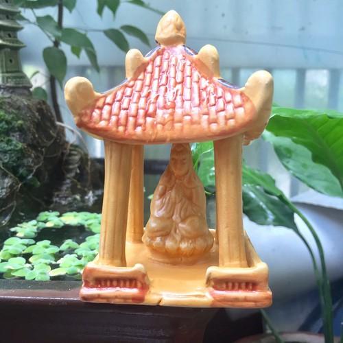 Ngôi Đền Phật Quan Âm Nhạt Trang Trí Hòn Non Bộ-Bể Cá,Hồ Cá