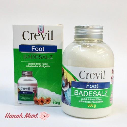 Muối ngâm chân Crevil Badesalz 600g hàng nội địa Đức