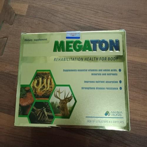 Megaton phục hồi sức khỏe cho cơ thể hộp 12 vỉ x 5 viên - 4578132 , 13518824 , 15_13518824 , 150000 , Megaton-phuc-hoi-suc-khoe-cho-co-the-hop-12-vi-x-5-vien-15_13518824 , sendo.vn , Megaton phục hồi sức khỏe cho cơ thể hộp 12 vỉ x 5 viên