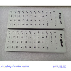 Miếng dán phím chữ ngôn ngữ Tiếng Anh _chuẩn US_ Màu trắng