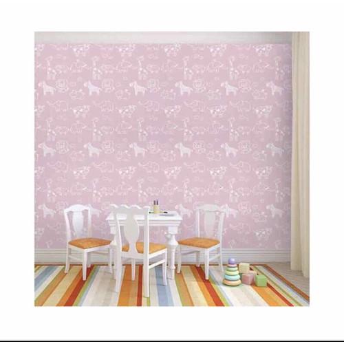 10m giấy dán tường ngựa hồng có sẵn keo khổ 45cm
