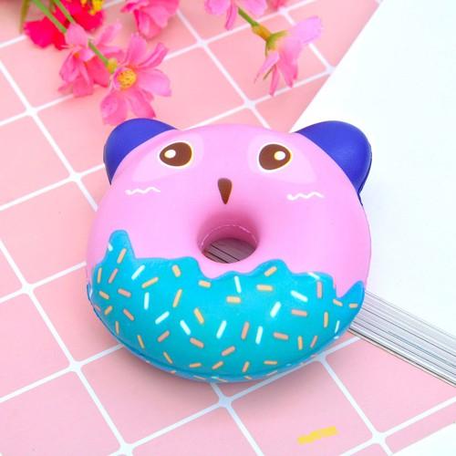 Squishy bánh vòng hình thú - màu ngẫu nhiên