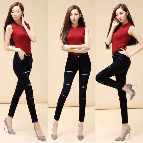quần jean nữ rách kiểu có size đại - 6806300 , 13514084 , 15_13514084 , 215000 , quan-jean-nu-rach-kieu-co-size-dai-15_13514084 , sendo.vn , quần jean nữ rách kiểu có size đại