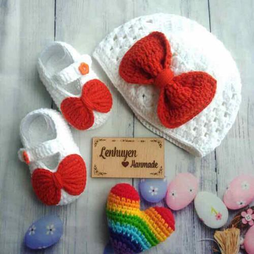 set nón và giày len cho bé handmade - 6802979 , 13509999 , 15_13509999 , 200000 , set-non-va-giay-len-cho-be-handmade-15_13509999 , sendo.vn , set nón và giày len cho bé handmade