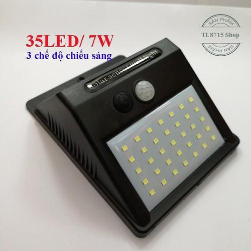 Đèn năng lượng mặt trời cảm biến hồng ngoại 35Led-7W