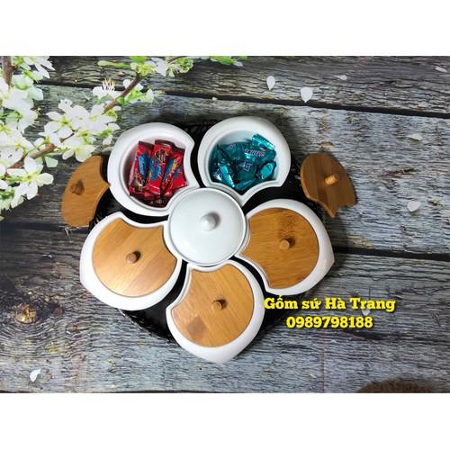 khay mứt tết bánh kẹo gốm sứ Bát Tràng nắp gỗ cao cấp - 6813147 , 13521452 , 15_13521452 , 520000 , khay-mut-tet-banh-keo-gom-su-Bat-Trang-nap-go-cao-cap-15_13521452 , sendo.vn , khay mứt tết bánh kẹo gốm sứ Bát Tràng nắp gỗ cao cấp