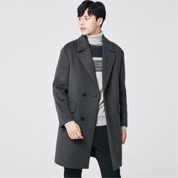 Áo khoác măng tô nam dáng dài lông cừu hàng hiệu xuất khẩu Hàn
