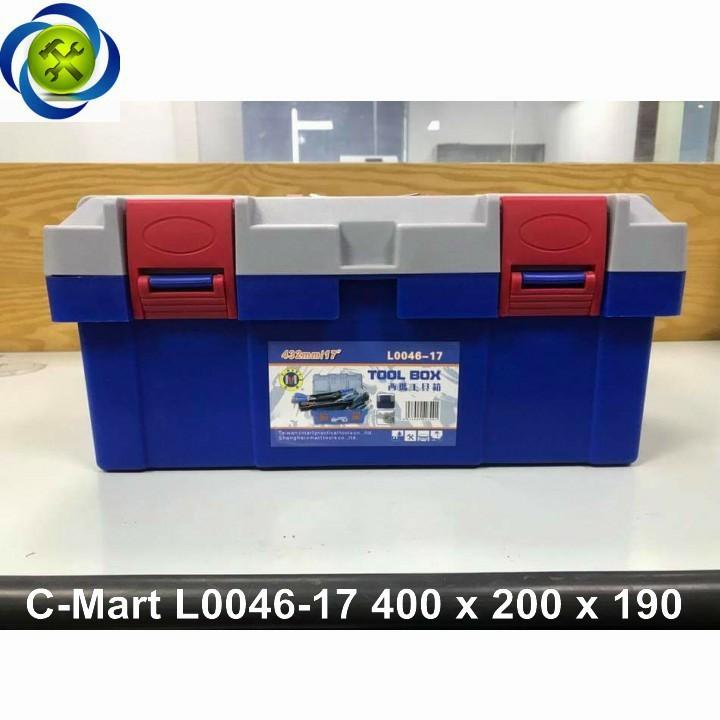 Thùng đồ nghề nhựa C-Mart L0046-17 400 x 200 x 190 1