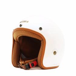Mũ bảo hiểm Bull dog Heli Fiberglass Trắng