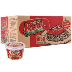 Mì Cung Đình Kool xốt Spaghetti thịt bò bằm thùng 12 tô x 105g