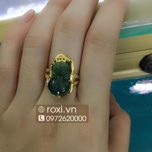 Nhẫn tỳ hưu cẩm thạch bọc vàng - 6821713 , 13531236 , 15_13531236 , 2000000 , Nhan-ty-huu-cam-thach-boc-vang-15_13531236 , sendo.vn , Nhẫn tỳ hưu cẩm thạch bọc vàng