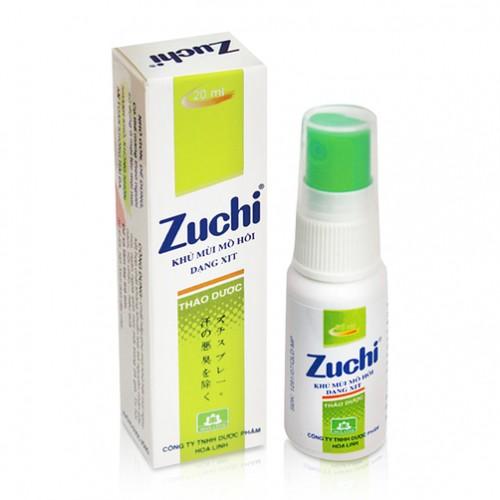 Combo 2 chai Xịt khử mùi Zuchi thảo dược