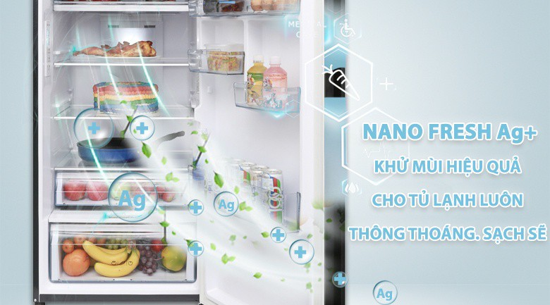 Tủ lạnh Aqua Inverter 373 lít AQR-IG386DN