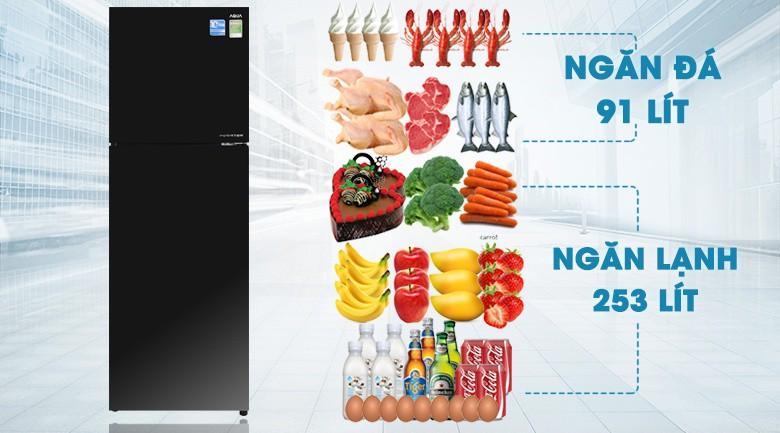 Ngăn đa năng Aqua Triple Fresh tiện dụng - Tủ lạnh Aqua Inverter 373 lít AQR-IG386DN GBN