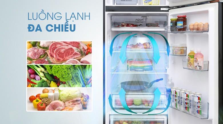 Công nghệ Inverter tiết kiệm điện tối đa - Tủ lạnh Aqua Inverter 373 lít AQR-IG386DN GBN