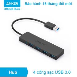 Bộ chia cổng ANKER USB 3.0 Anker Ultra Slim - 4 Cổng USB - A7516 - Đen