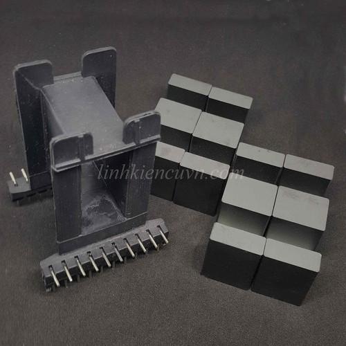 Lõi biến áp EE55 đôi nằm 10-10 chân