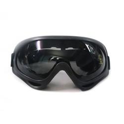 Kính phượt UV400 gắn mũ bảo hiểm xe máy mô tô - tráng đen