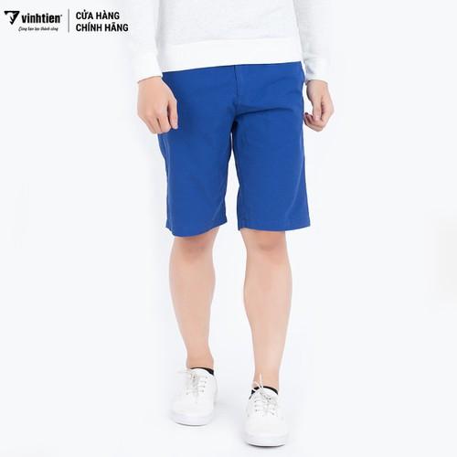 Quần shorts slimfit 275 Vĩnh Tiến xanh dương