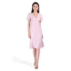 De Leah - Đầm Ôm Đuôi Cá Cúc Trai - Thời trang thiết kế